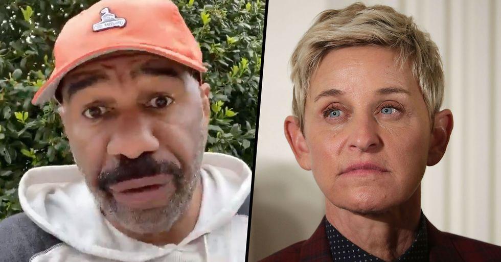 Steve Harvey Defends Ellen DeGeneres Amid 'Cruelty' Scandal