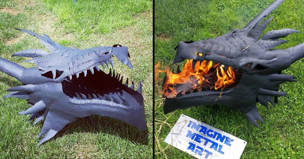 You Can Now Get a Dragon Fire Pit That Looks Like It's Breathing Fire