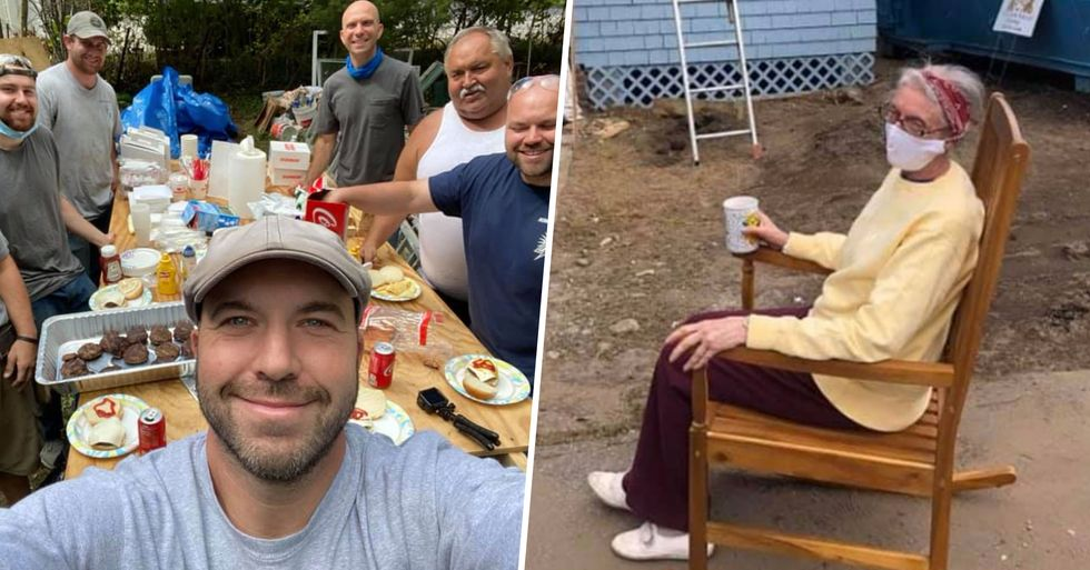 Electrician Repairs 72-Year-Old Woman's Lights Then Enlists Entire Community To Fix Her Crumbling House for Free