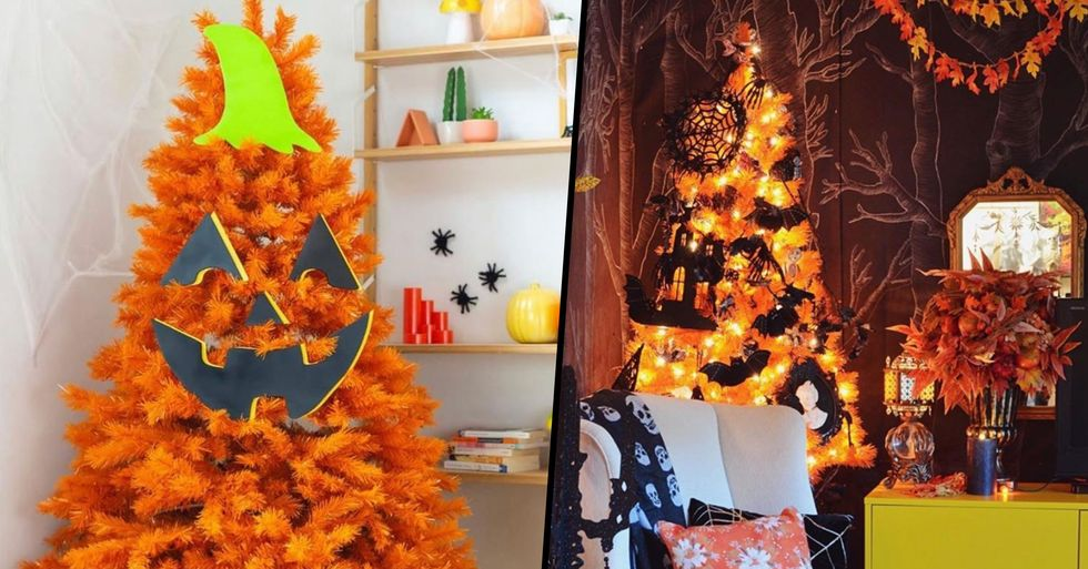 Walmart Is Selling Orange Halloween Christmas Trees, Perfect for Spooky Season
