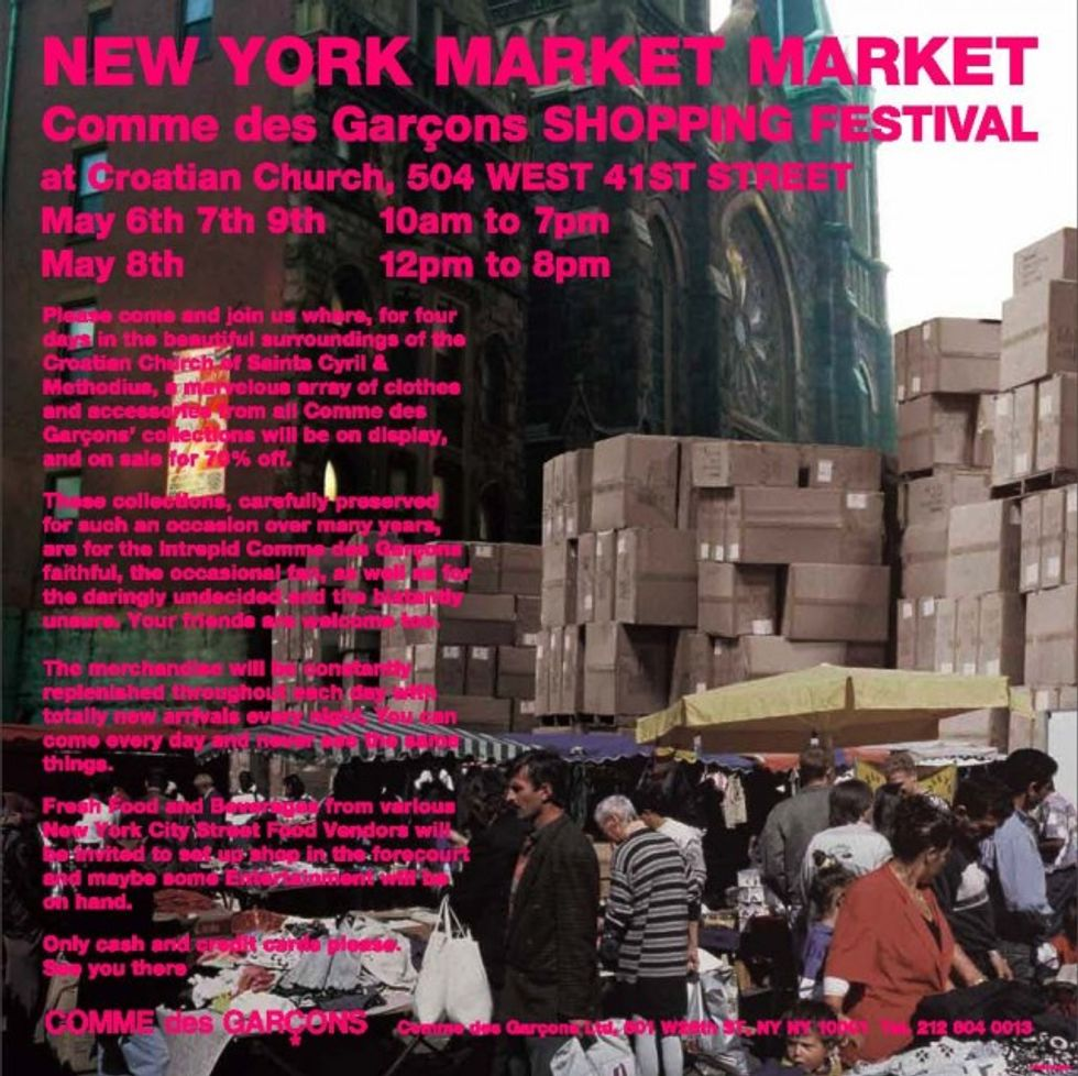 "Get Excited Excited for Comme Des Garcons' ""New York Market Market"""