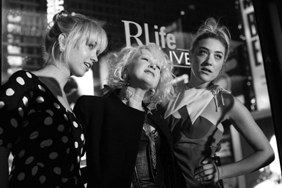 Scenes from the RLife Live Benefit with Cyndi Lauper, Mia Moretti and Caitlin Moe