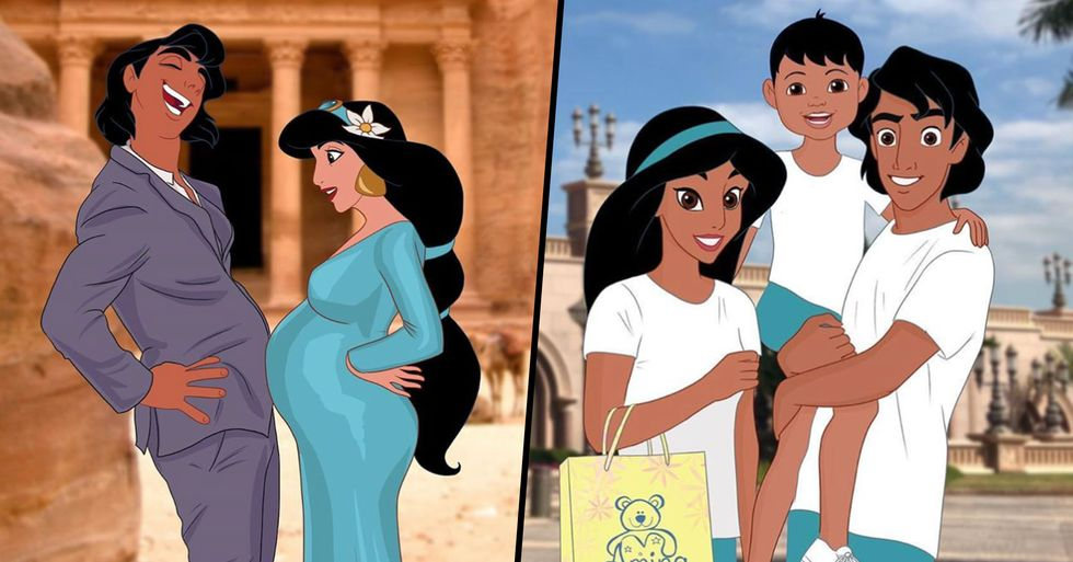 Artist Draws Disney Princesses Pregnant and Then Imagines What Their Kids Will Look Like