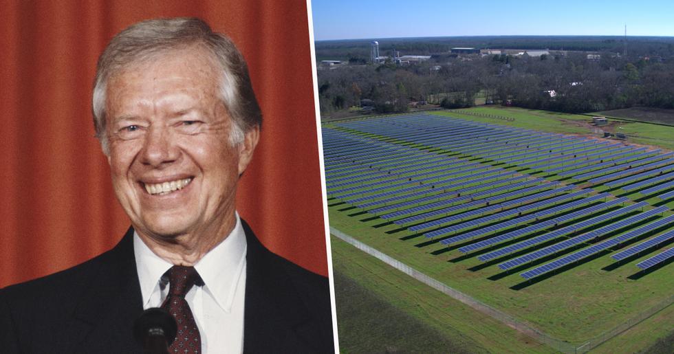 Former U.S President Jimmy Carter's Solar Farm Powers Half His Hometown