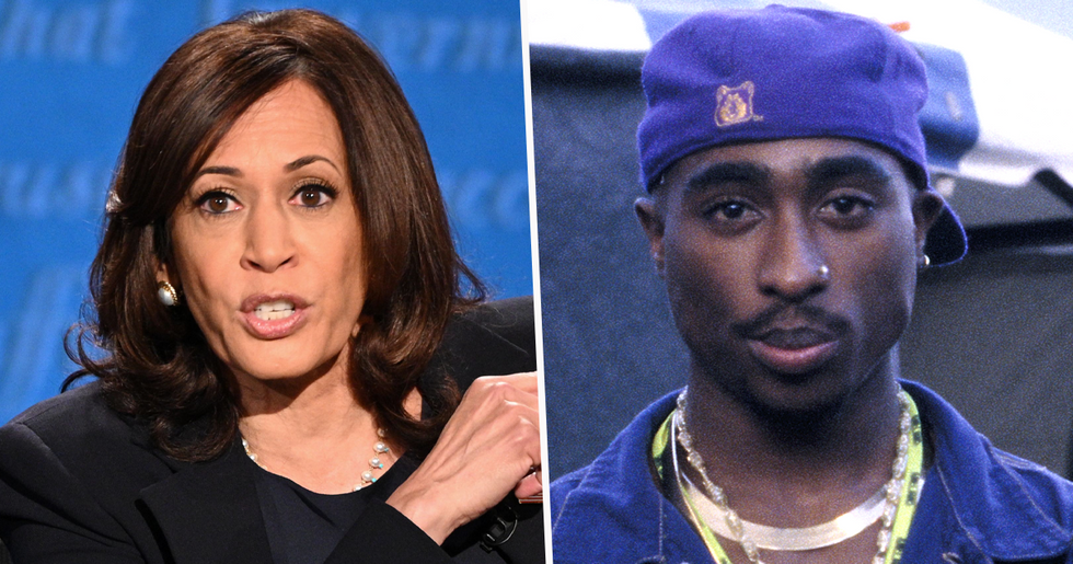 Trump Campaign Left a Ticket for Tupac at The Vice Presidential Debate Under Kamala Harris' Name