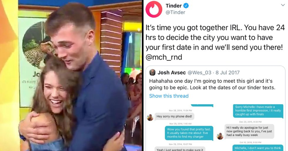 After Three Years of Messaging, Tinder Got Involved in Couple's Love Story