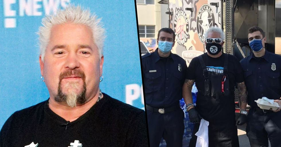 Guy Fieri Just Fed 2,000 First Responders Fighting the California Wildfires