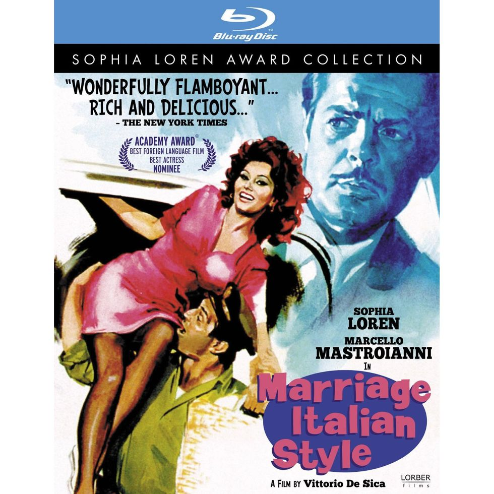 Sophia Loren and Marcello Mastroianni In Marriage Italian Style On Blu-ray