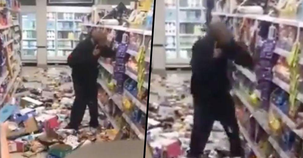 Angry Man Trashes Store After 'Being Asked To Wear a Mask'