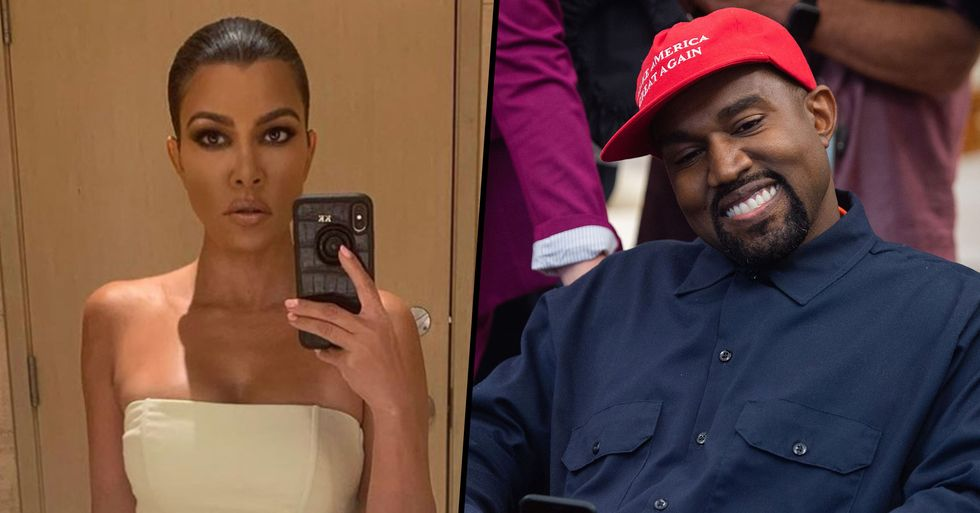 Kourtney Kardashian Endorses Kanye West for President and Twitter Can't Stop Mocking Her