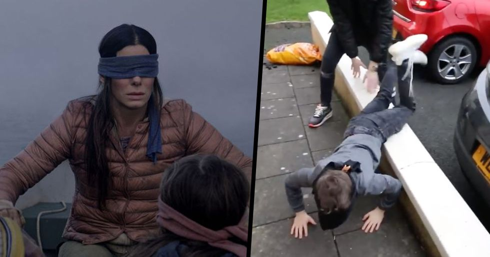 People Are Walking Around Blindfolded Doing The Bird Box Challenge