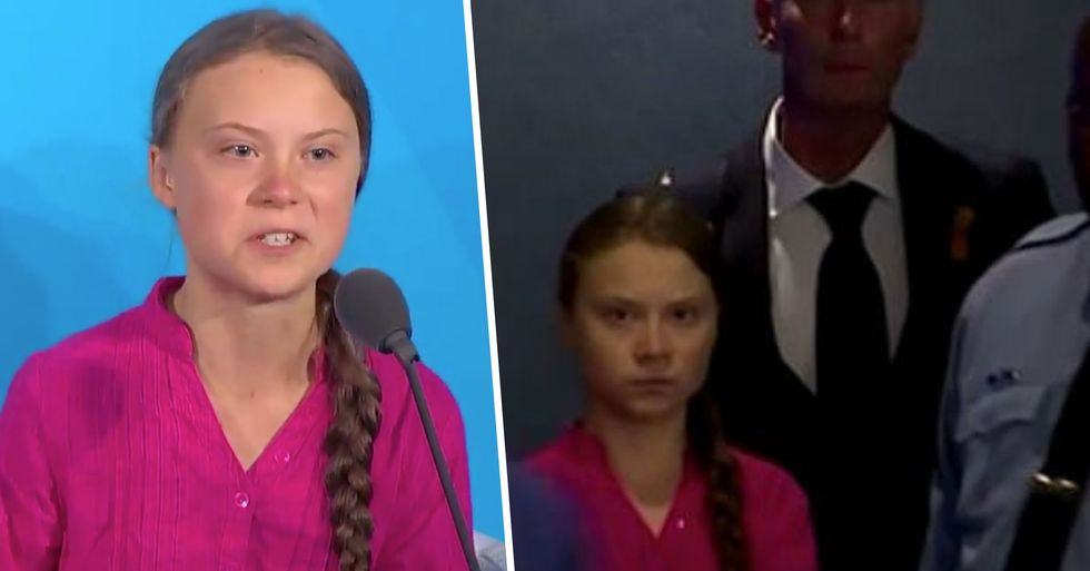 Greta Thunberg Delivered Powerful Speech Then Gave Donald Trump Death Stare at U.N. Climate Summit