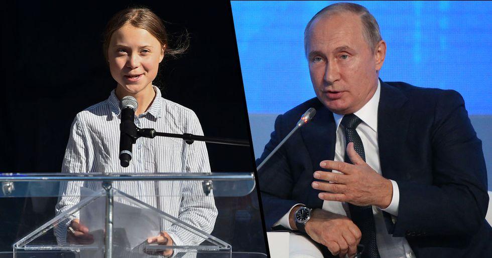 Vladimir Putin Calls Greta Thunberg a 'Poorly Informed Teenager'