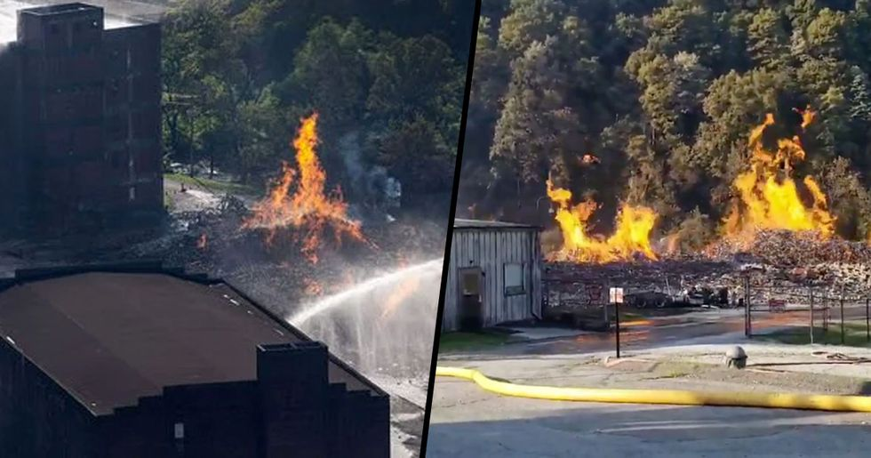 Jim Beam Warehouse Catches Fire Destroying 45,000 Barrels of Bourbon