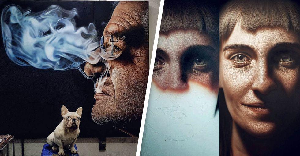 Peep This Artist's Incredible Realistic Paintings