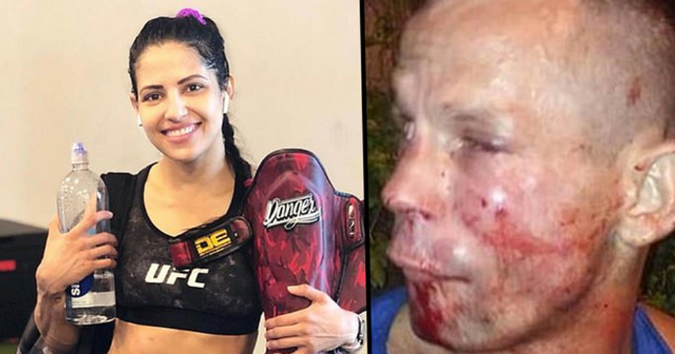 UFC Star Brutally Beats Thief After He Tries to Mug Her With Cardboard Gun