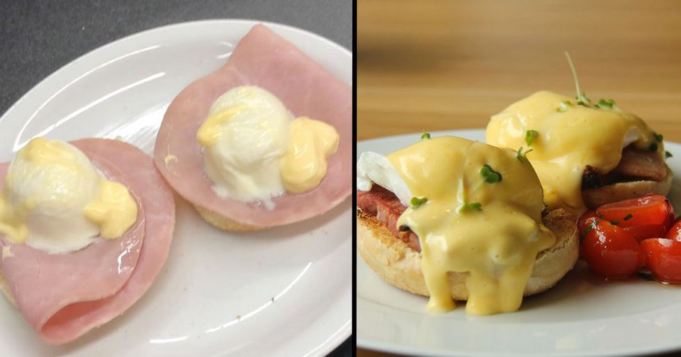 Americans Are Horrified by What an Eggs Benedict in England Looks Like