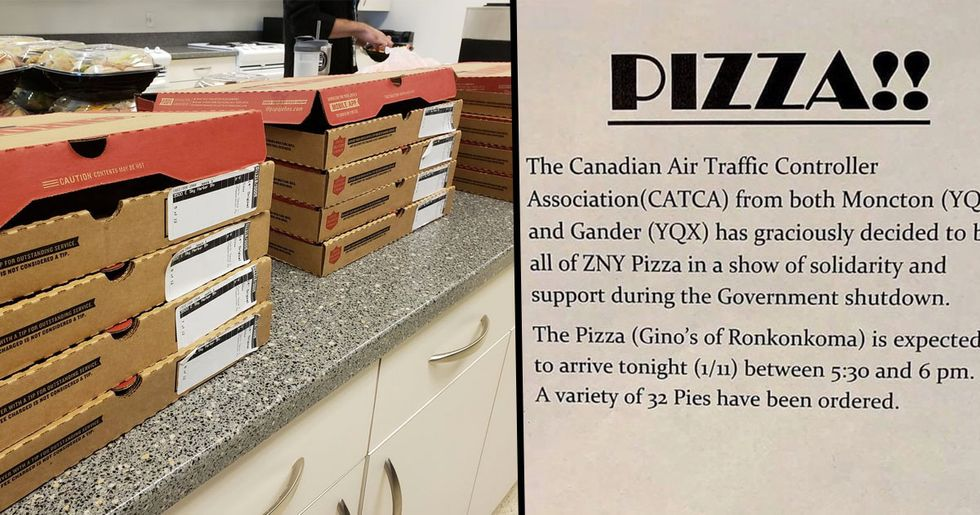 Canadian Air Traffic Controllers Send Pizza To US Colleagues Working Without Pay