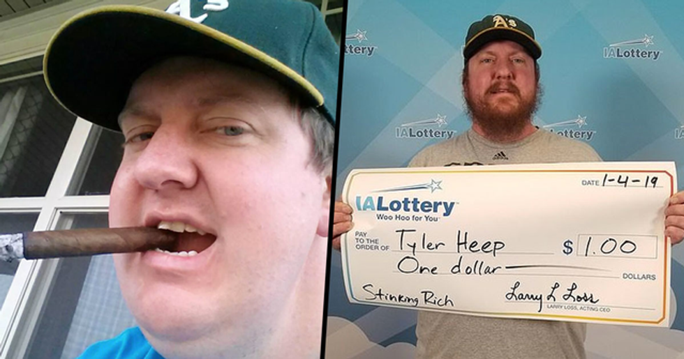 Man Who Won $1 On Lottery Wants Winnings Paid By Giant Check