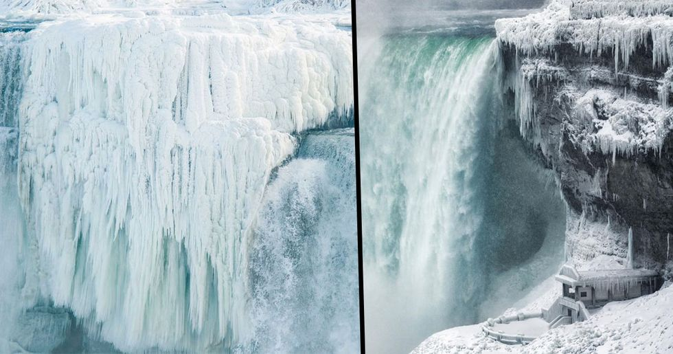 The Niagara Falls Have Frozen Over And The Photos Are Incredible