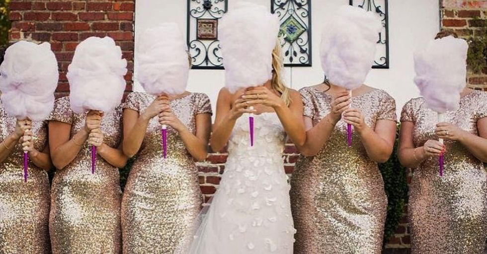 The Newest Wedding Trend Is Cotton Candy Bouquets