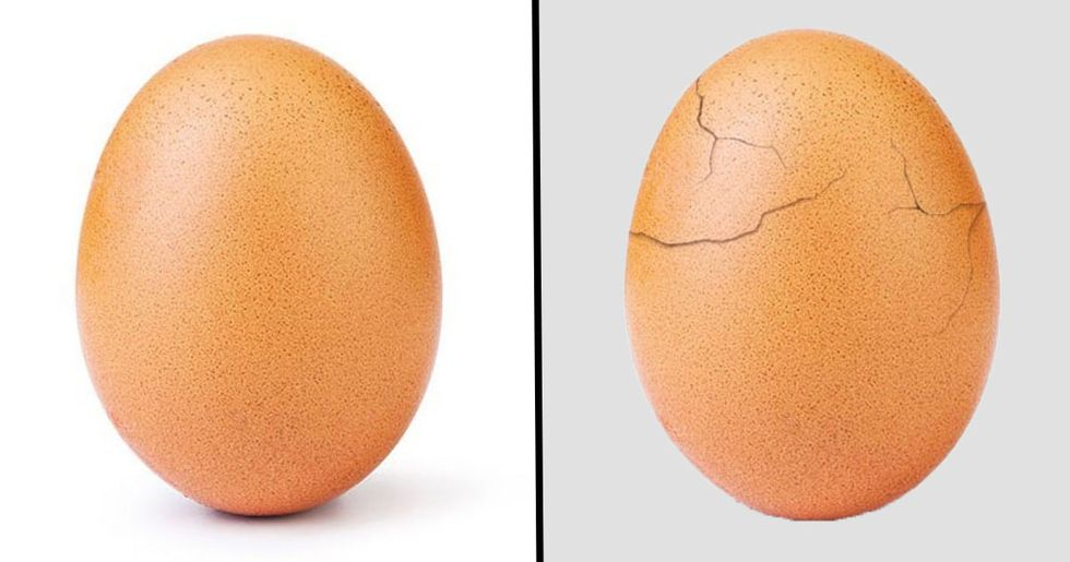 The World Record Egg Has Cracked To Reveal Incredible Message