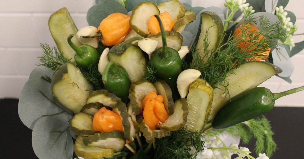 Get Your Lover a Savory Pickle Bouquet This Valentine's Day
