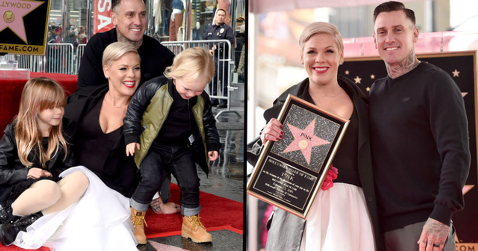 Pink Honored With a Star on Hollywood Walk of Fame