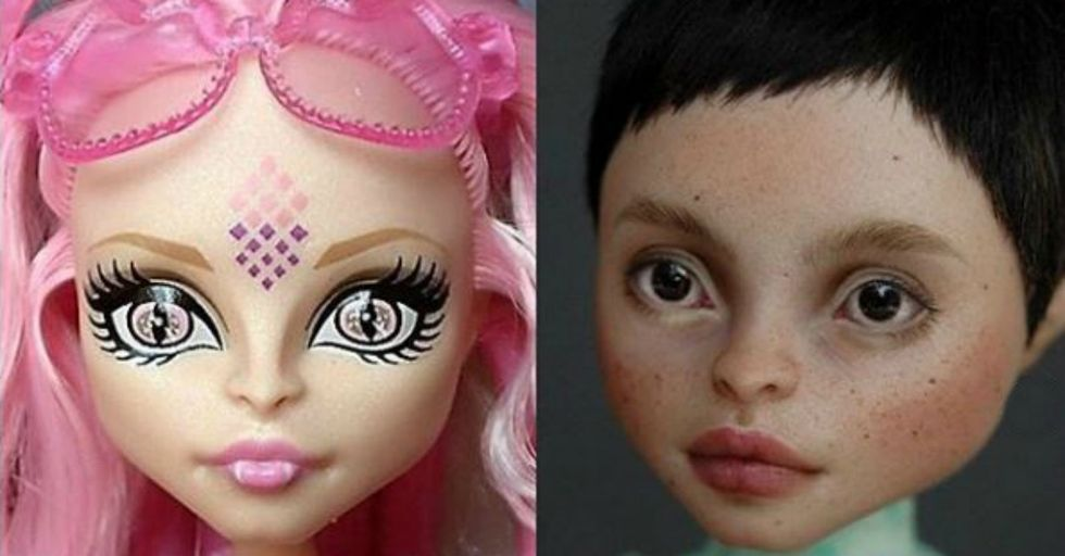 This Artist Paints Extremely Realistic Features on Dolls and the Results Are Jaw-Dropping