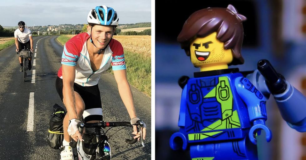 We Can't Get Over This LEGO-Style Bike Helmet