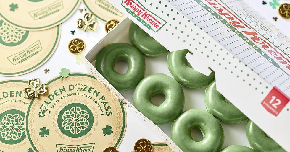Krispy Kreme Brings Back Green Doughnuts Just in Time for St. Patrick's Day