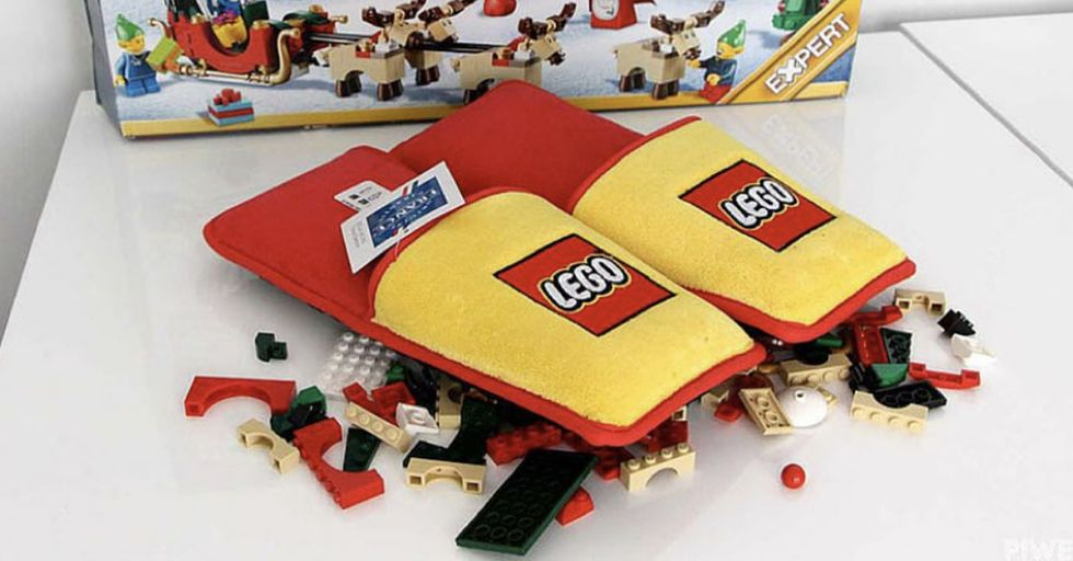 Parents Rejoice, There Are Now Slippers to Prevent You From Stepping on LEGOs