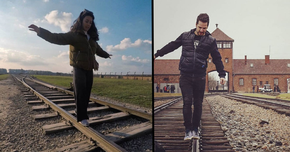 Auschwitz Sends Message to People Posing for Instagram at Concentration Camp