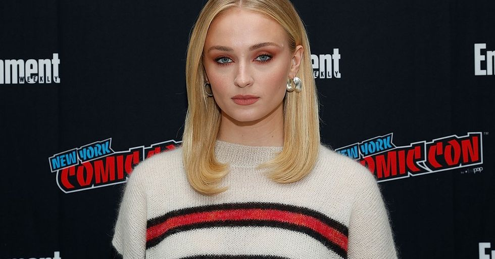 'Game of Thrones' Star Sophie Turner Just Chugged Wine on a Jumbotron