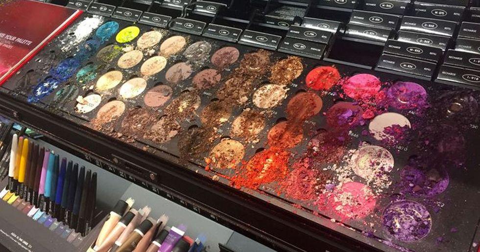 Child Destroys $1,000 Worth of Make-Up at Sephora