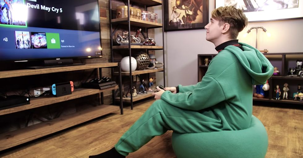 You Can Now Buy a Combo Bean-Bag Chair and Onesie