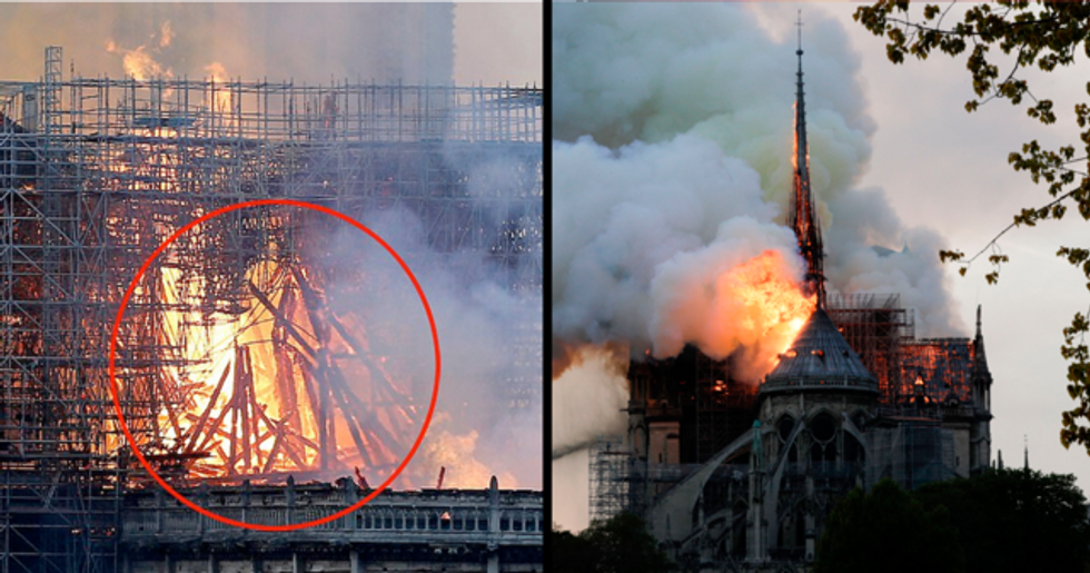 Mom Says She's Spotted Jesus in the Flames of Notre Dame Cathedral