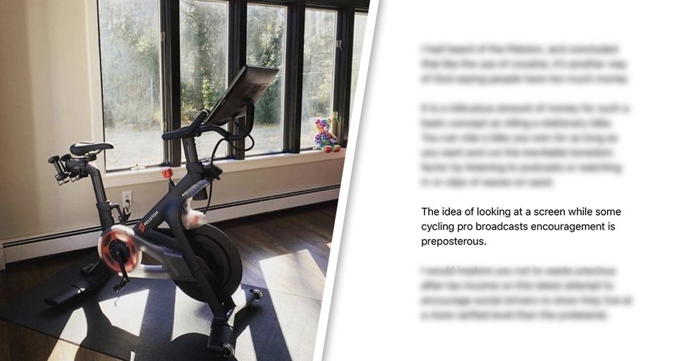 This Dad's Strongly Worded Email About the Stupidity of Buying a Peloton Bike Is Perfect