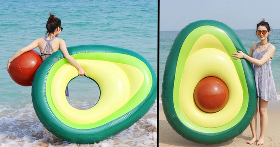 You Can Now Buy an Avocado Shaped Pool Float With a Removable Pit