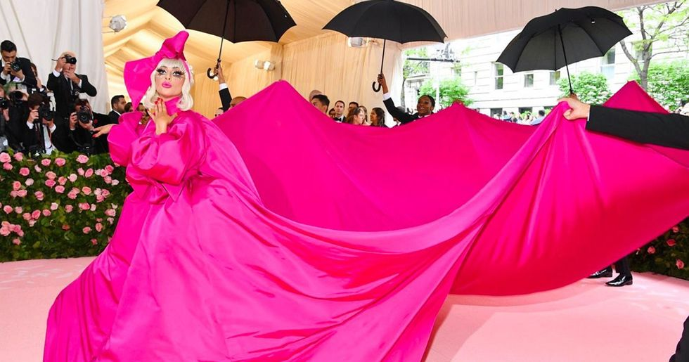 Lady Gaga Wore an Actual Pink Tent to the Met Gala