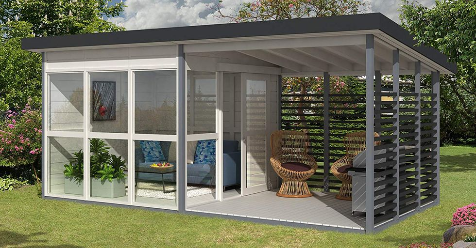 Amazon Now Selling a DIY Backyard Guest House That Can Be Built in 8 Hours