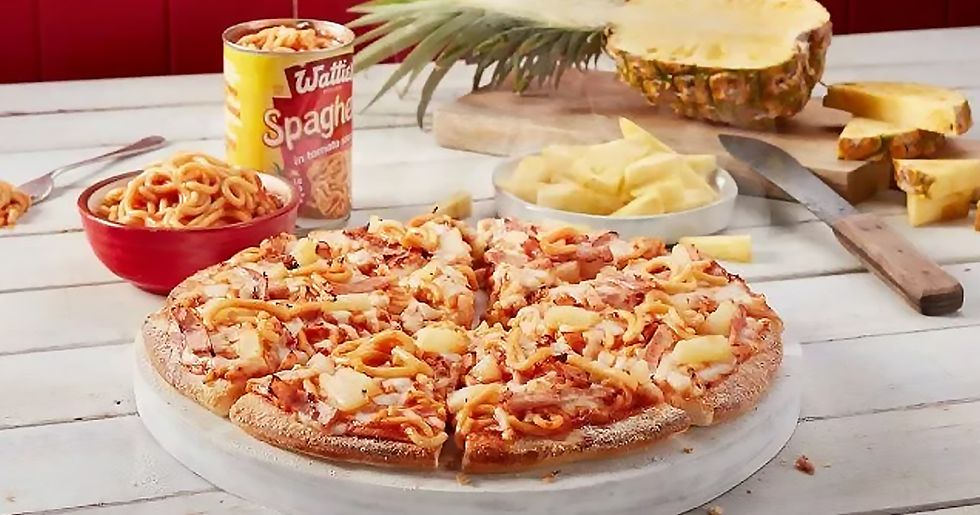 Domino's Pizza Unveils Truly Horrifying Hawaiian Spaghetti Pizza Dish