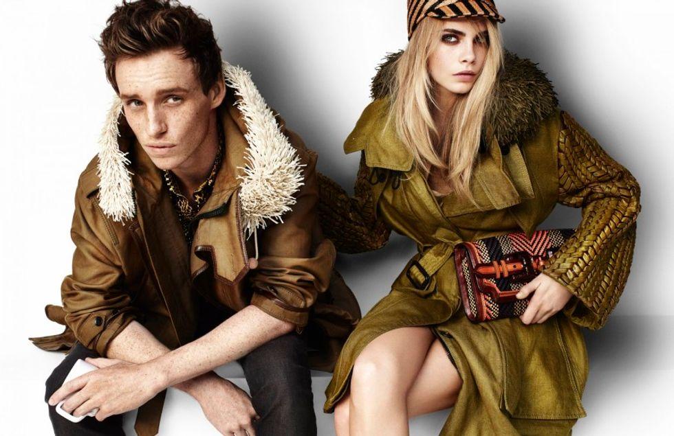 Eddie Redmayne and Cara Delevigne Get Cozy For Burberry