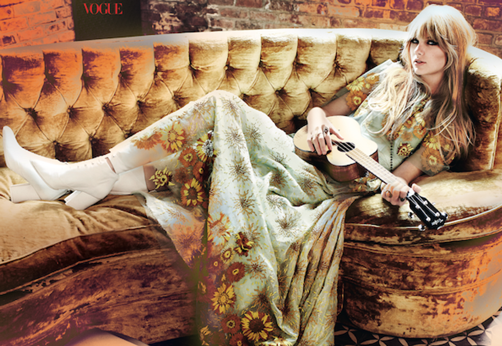 Taylor Swift Covers Vogue, Looks Very High-Fashion Hippie