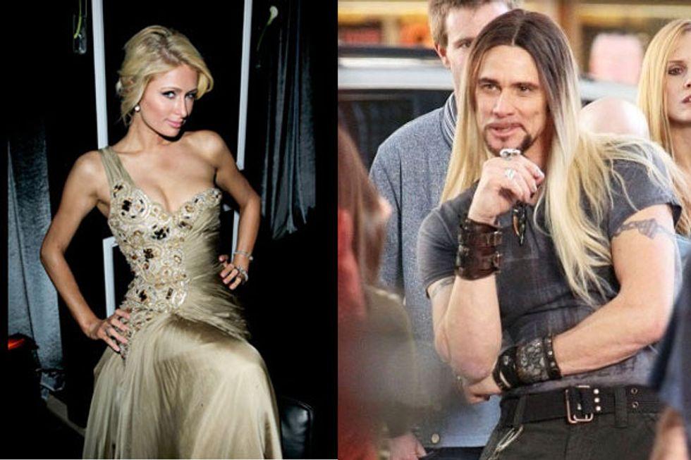Paris Hilton & LMFAO + Jim Carrey's Hot New Locks = Eight Items or Less