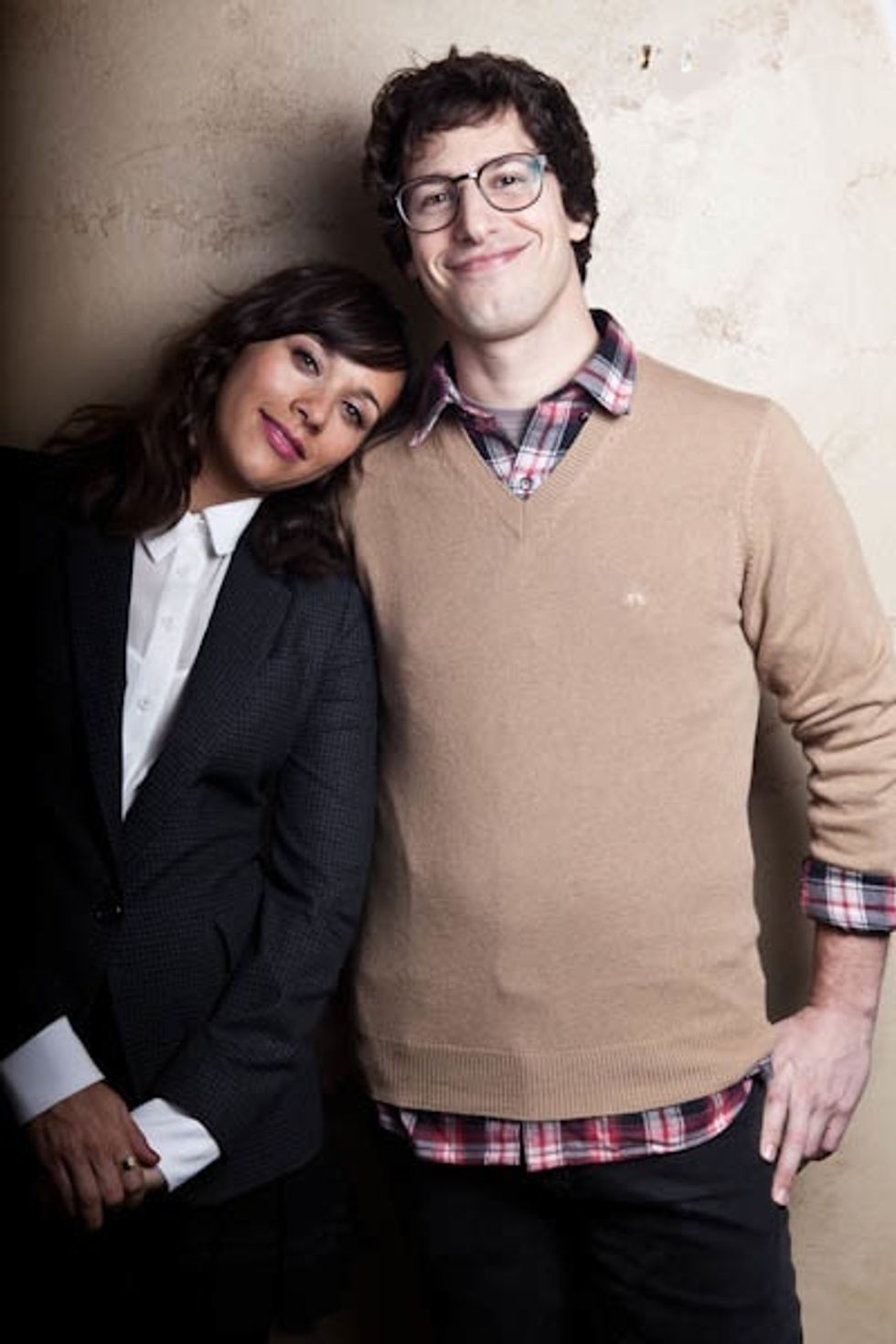 Andy Samberg and Rashida Jones Cuddle at Sundance