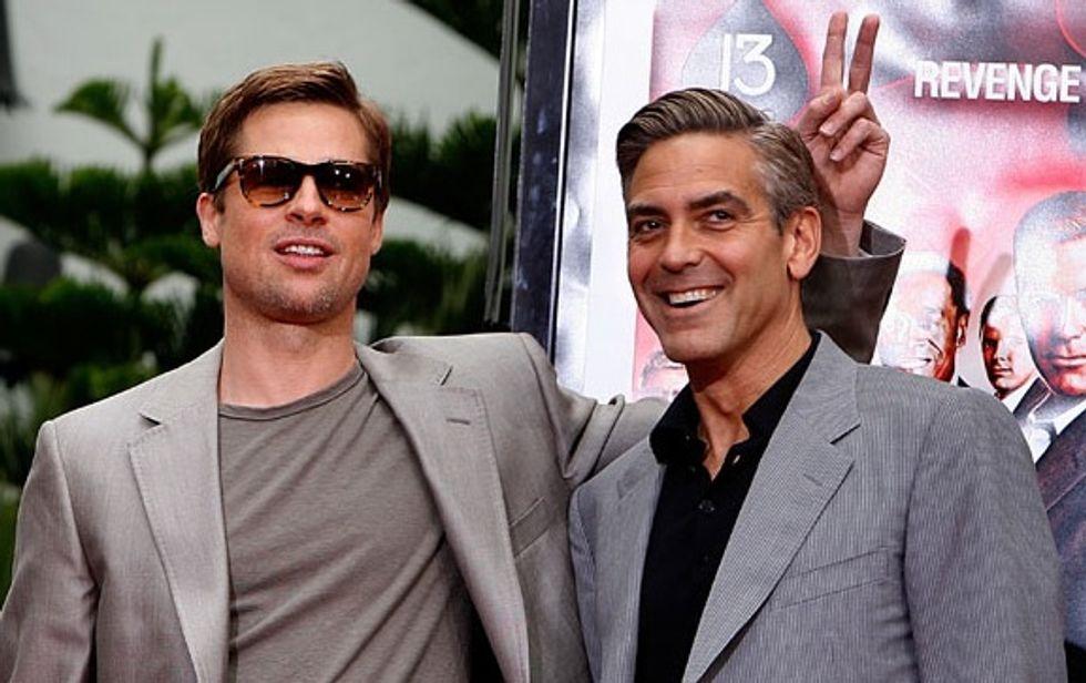Brad Pitt Vs. George Clooney: May the Best Man Win an Inevitable Oscars Prank War