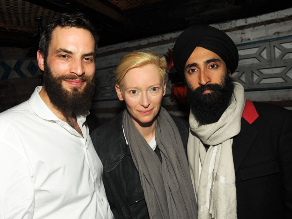 Tilda Swinton and New Year's Resolutions at Sandro Kopp's After-Party