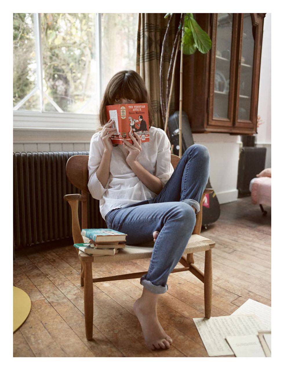Irina Lazareanu, Alex James and a Cute Black Cat in Aubin & Wills' Spring Campaign