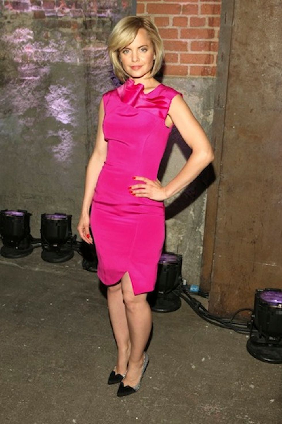 Mena Suvari Has a Barbie Moment at the Christian Siriano Show